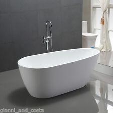 """Bathroom Acrylic Free Standing Bath Tub """"Thin Edge"""" 1400 x 750 x600 Freestanding"""