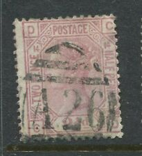 GB QV 1876 2 1/2d Plate 14 CD with a Gibraltar A26.