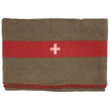 High Quality WW2 Swiss Army Wool Vintage Military Blanket 200x150cm - Repro