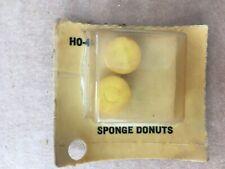 AURORA AFX Tyco AJS Sponge Donut Tire Set YELLOW New in Box HO-4  Vintage 1970's