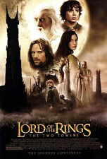 LORD OF THE RINGS: THE TWO TOWERS Movie POSTER 27x40 Elijah Wood Ian McKellen