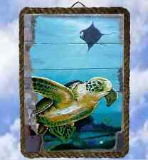 Tropical Beach Ocean 33 Wall Decor Art Prints Sea Turtle lalarry Vintage framed