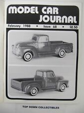 Model Car Journal  Magazine   February  1988    1946 Ford Woody Of Paul Zeock