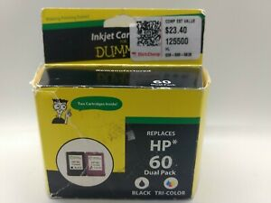 Ink Cartridges for Dummies Remanufactured HP 60 BLACK & Tri Color Dual Pack