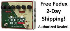 New Electro-Harmonix EHX Deluxe Memory Man Tap Tempo 550 Analog Delay Pedal