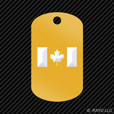 Canadian Flag Keychain GI dog tag engraved many colors  Canada Maple Leaf