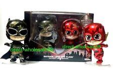 Hot Toys Justice League Batman & Flash Cosbaby Metallic Color version  DC