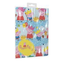 Children's Kids Peppa Pig Birthday Gift Wrap x 2 With Tags George & Peppa Fun