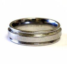 Triton steel mens wedding band ring 7.7g estate gents 7mm antique fashion