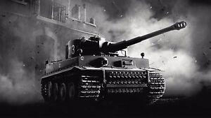 Military Tank  German Tiger Tank Poster Wall Art | UK Seller E225