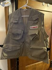 Vintage Canon Press Camera Vest Film Photography Pockets Made in USA!