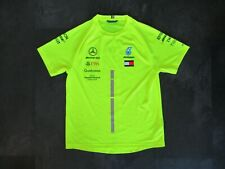 Mercedes AMG F1 Tommy Hilfiger team issue hi viz shirt sz S 2019 Hamilton Bottas