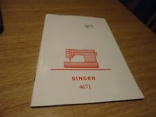 SINGER SEWING MACHINE MODEL 4671 SAMBA VARIOUS .