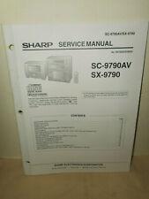 SHARP SC-9790AV / SX-9790 Original Factory Service Manual Schematic Parts List
