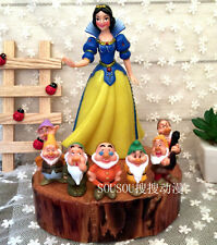 Disney Snow White and Seven Dwarfs Princess 8x set PVC Figure toy doll