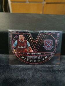Panini Obsidian Soccer 2020-21 T-mall Pablo Fornals Vitreous Pulsar /28 West Ham