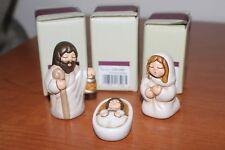 Thun,Lotto 3 oggetti. Presepe della famiglia,Maria,Giuseppe,Gesu. Nuovo.
