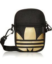 Adidas Originals Trefoil Space Tech Fest Crossbody Bag Black/Metallic Gold, 004