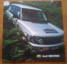RARE LAND ROVER 4x4 4WD AWD EXPERIENCE TRAINING DRIVING GUIDE BROCHURE 11 Pages