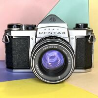 Asahi Pentax S1a 35mm SLR Camera W/ Pentacon 1.8 50mm Lens Working! Lomo! Retro