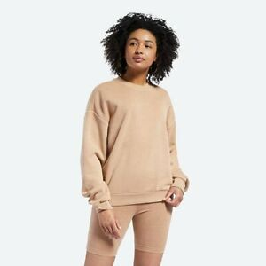 Reebok Classics Non Dye Crewneck Women's Wild Brown Sportswear Sweatshirt Crew