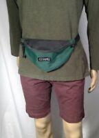 vintage Gitano fanny/waist pack canvas green/black bum bag adjustable strap
