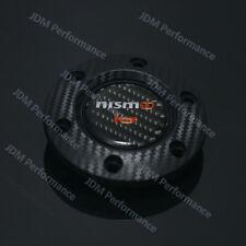 Racing Nismo Carbon fiber Steering Wheel Horn Button+Black Carbon Look Edge