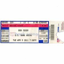 BOB SEGER & STEEL MAGNOLIA Concert Ticket Stub US BANK 4/5/11 CINCINNATI OHIO