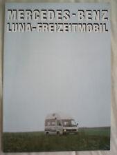 Mercedes Luna Motorhome brochure Dec 1989 German text