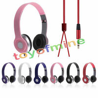 3.5mm Stereo Headphone Earphone Headset For Mobile Cell Phone Laptop PC Tablet