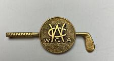 Western Golf Association Brass Member Pro Golfer Lapel Pin Rare 1940's WGA PGA