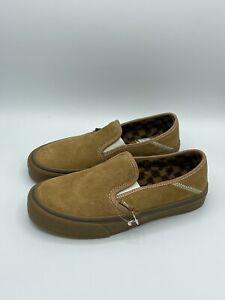 Vans Slip On SF Suede Chipmunk Checkerboard Men Women Skate shoes Rare