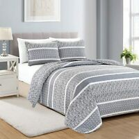 Great Bay Home Lodge Bedspread King Size Quilt with 2 Shams Cabin 3-Piece Rever