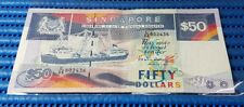Singapore Ship Series $50 Note C/88 802436 Prefix 88 Dollar Banknote Currency