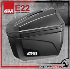 GIVI Monokey E22 - Coppia di Valigie Laterali 22 Lt. / Bauletti Neri