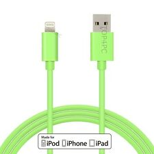 CHARGEUR IPHONE 6 IPHONE 5 5S 5C 2m CABLE USB DATA SYNCHRO 8 PIN IPAD IPOD VERT
