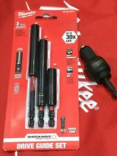 Milwaukee EXPAND 3 Piece ShockWave Magnetic Drive Set + Angle Adapter