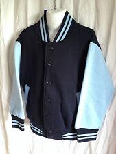 BNWT Boys/Girls Sz 4 L W Reid Brand Navy/Sky Varsity Letterman Baseball Jacket