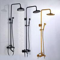 Duschsystem Überkopfbrause Regendusche Handbrause Duschkopf Duschset Wannenausla