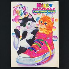 Unused Vtg 1990s Lisa Frank Kitty Fantasy Coloring Book Cat In Shoe Rose Art