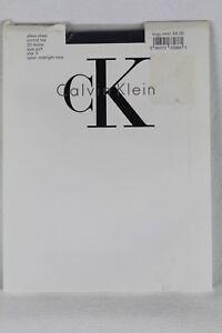 Calvin Klein Silken Sheer Control Top 20 Denier Midnight Navy Pantyhose NWT