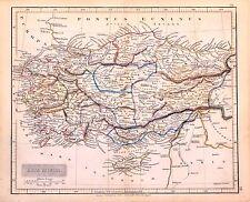 Carta geografica antica TURCHIA TURKEY CIPRO KIBRIS Arrowsmith 1840 Old Map