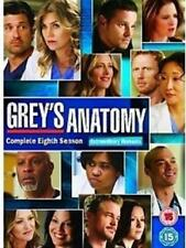 GREY'S ANATOMY EIGHTH SERIES 8 6 DISC BOXSET ABC UK 2012 REGION 2 DVD VGC L NEW