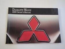1993 MITSIBUSHI DIAMANTE WAGON NICE USED FACTORY ORIGINAL OWNERS MANUAL HANDBOOK