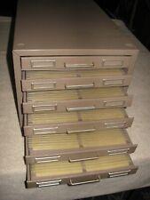Vintage Six-Drawer Data or Photo Negative Storage Cabinet - 240  Slots