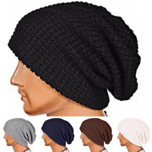 Men Women Knit Slouchy Beanie Cap Baggy Oversize Ski Hip-hop Winter Hat