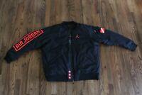 44 Nike Air Jordan Mens L-4XL Sportswear Retro 1 Bomber Jacket Black BQ6958 010