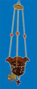 Orthodox Glass Vigil Lamp Blown Glass Vigil Lamp Icon Corner Ikonenampel BIG
