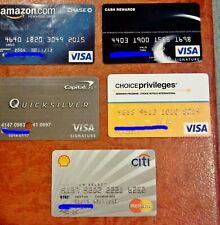 VINTAGE COLLECTIBLE CREDIT CARDS ~ LOT OF 5 DIFFERENT VISA & MASTERCARD