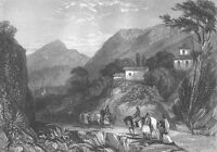 ARGOS GREECE ~ Rare 1839 Landscape Art Print Engraving